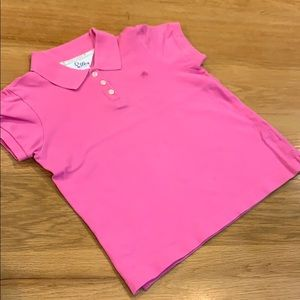 Lilly Pulitzer Pink Polo Shirt 👚 Girls Size 12